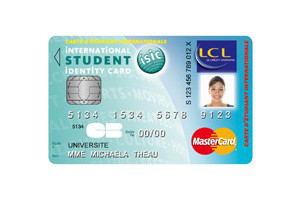 La carte LCL ISIC : carte bancaire et carte d'étudiant internationale